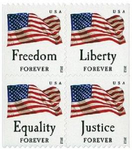 2012 45c Forever Four Flags, Block of 4 Scott 4673-4676 Mint F/VF NH