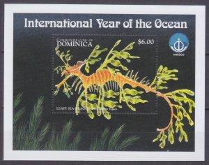 1998 Dominica 2602/B369 Marine fauna 5,50 €