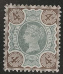 Great Britain Scott 116 Queen Victoria 1897 MH* Magnificent