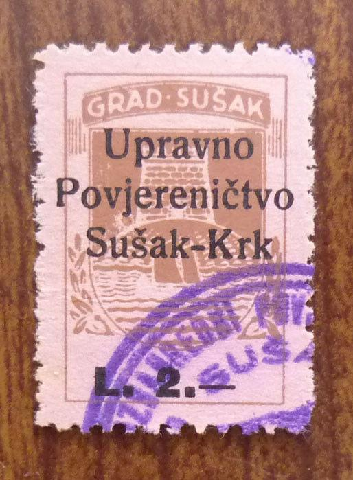 Croatia in Yugoslavia Local Revenue Stamp SUSAK! J15