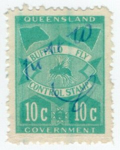 (I.B) Australia - Queensland Revenue : Buffalo Fly 10c