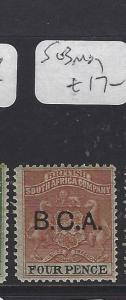BRITISH CENTRAL AFRICA  (P2909B)  ARMS    4 D   SG  3   MOG
