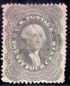 US Stamp #37 24c Washington USED SCV $400