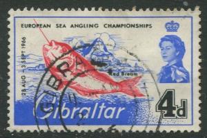 Gibraltar #177 QEII Used  Scott CV. $0.25