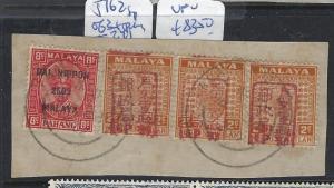 MALAYA JAPANESE OCCUPATION NS(P2209B)2C RED CHOP SGJ162 STRIP 3+8C PAHANG DN VFU