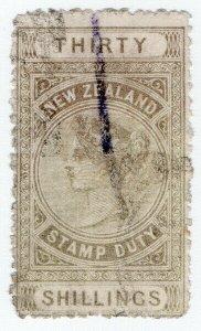 (I.B) New Zealand Revenue : Stamp Duty 30/-