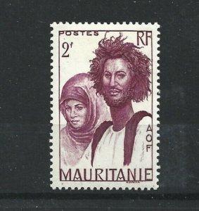 MAURITANIA  1938 - 40  2F  LILAC       MH