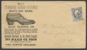 STANDARD SCREW FASTENED BOOTS & SHOES ILLUST ADVT COVER W/ 1¢ BANKNOTE BS1636
