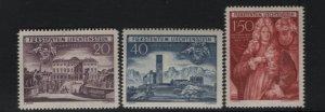 LIECHTENSTEIN 240-242 (3) Set, Hinged, 1949 Prince Johann Adam Andreas