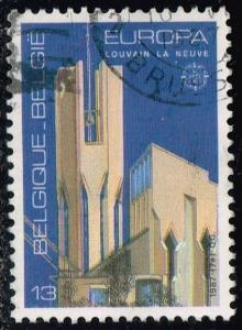 Belgium #1268 Louvain-la-Neuve Church; Used (0.25)