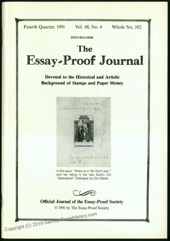Essay-Proof Journal No192 US Newspaper Malta 44690