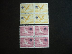 Stamps - Cuba - Scott#C209-C210 - Mint Hinged Set of 2 Stamps in Blocks of 4