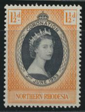 Northern Rhodesia  SG 60 SC# 60 MNH - Coronation - see details