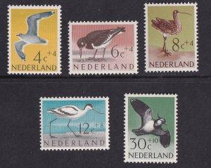 Netherlands  #B353-B357  MNH  1961  Cultural welfare  birds