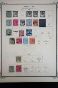 Gibraltar 1800's to 1980's Stamp Collection