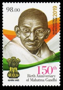2019 Kyrgyzstan 981 150th Birth Anniversary of Mahatma Gandhi