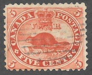 Canada (1859) - Scott # 15,   Used