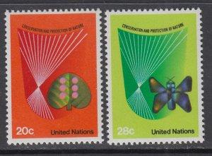 UN New York 390-391 MNH VF