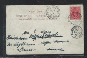 SOUTHERN NIGERIA  (P2709B) 1911   KE 1D PPC TO ENGLAND