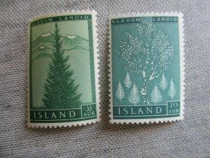 Iceland, Scott#306-307, MNH