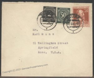 Germany Post WWII Allied Zones Cover USA 104199