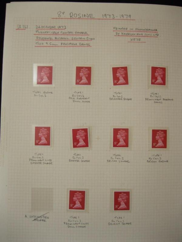 SPECIALISED COLLECTION OF U/M 8p MACHINS + CYLINDER BLOCKS ON 6  PAGES