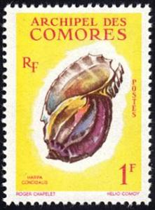 Comoro Islands # 49 mnh ~ 1fr Sea Shell