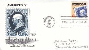 1985, AMERIPEX 86, Artmaster, FDC (E10864)