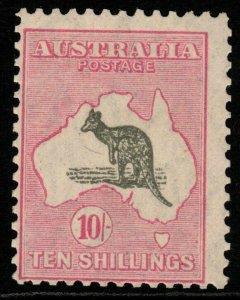 AUSTRALIA SG112 1929 10/= GREY & PINK MNH