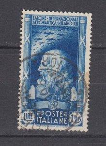 J29700, 1935  italy used #348 da vinci