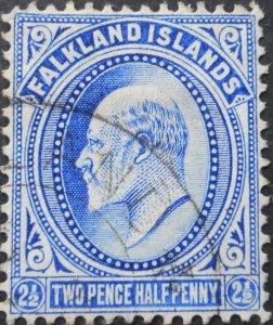 Falkland Islands 1904 EVII 2½d SG 46 used