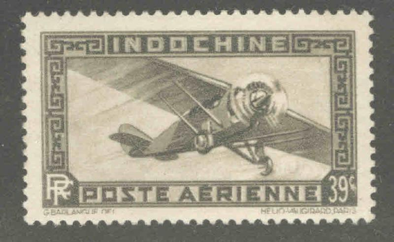 French Indo-China Scott C10A  MH* Airmail stamp from 1933-41 set