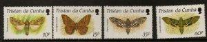TRISTAN DA CUNHA SG490/3 1990 MOTHS MNH