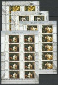 Moldova 2019 Art: National Museum of Fine Arts MNH Full sheets