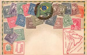 Brazil, Embossed Stamp Postcard, #84, Published by Ottmar Zieher, Unused