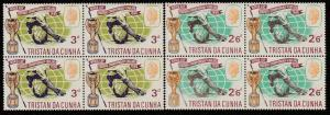 TRISTAN DA CUNHA 1966 Football World Cup set blocks of 4 MNH...............65996