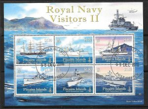 PITCAIRN ISLANDS SGMS820 2010 ROYAL NAVY VISITORS II FINE USED