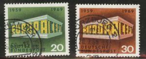 Germany Scott 996-997 Used 1969 Europa set