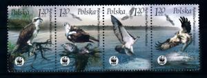 [78390] Poland 2003 Birds Vögel Oiseaux Fish Eagle WWF  MNH