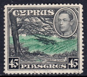 Cyprus - Scott #153 - Used - Corner crease UL - SCV $3.50