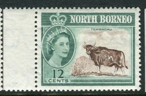 NORTH BORNEO; 1961 early QEII issue fine Mint hinged Marginal value, 12c