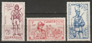 Cameroun 1941 Sc B13A-C Yt 197-9 set MLH*