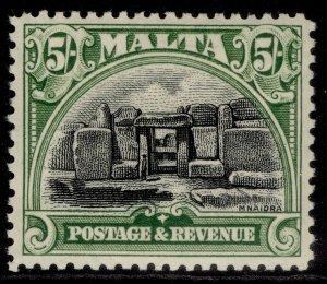 MALTA GV SG208, 5s black & green, LH MINT. Cat £55.
