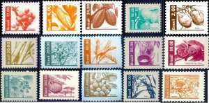 Brazil 1980/1984 MNH Stamps Fruits and Vegetables