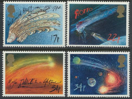 GB SG 1312 - 1315  SC# 1133-1136 Mint Never Hinged - Halley's Comet