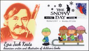 17-298, 2017, The Snowy Day, FDC, Pictorial PM, Christmas, Ezra Jack Keats