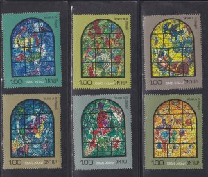 Israel # 509-520, Chagall Stained Glass Windows, NH Set, 1/2 Cat.