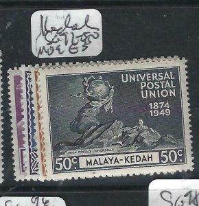 MALAYA KEDAH   (P2206B) UPU  SG 72-5   MOG