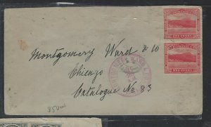 DOMINICA COVER (P2304B) SEA VIEW 1D PR+ KE1/4D LEEWARD IS PR ON COVER TO USA