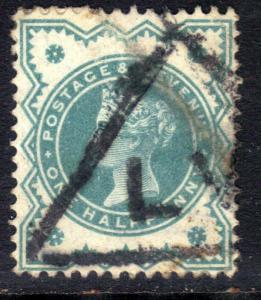 GB 1900 QV 1/2d Blue Green Colour Change SG 213  ( J1199 )